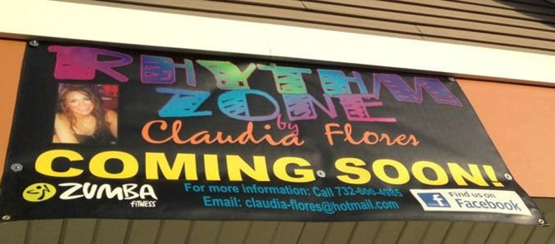 Indoor Outdoor Vinyl Banner 5x2 Feet Custom Design & Grommet image 0