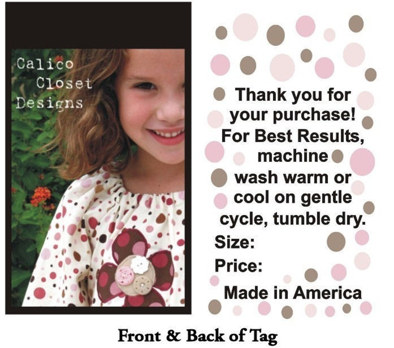 2500 Full Color 2 Sided Hang Tags Professionally Printed on a image 0