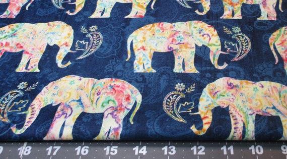 6f2b50c71218 BOHEMIAN-DREAMS Watercolor Patterned ELEPHANTS on shades of