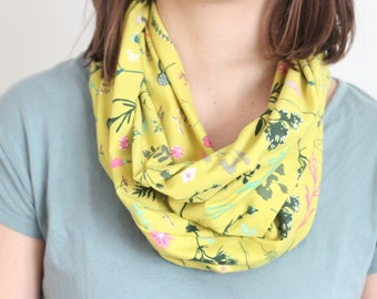 Colorful - Spring - Organic Cotton Jersey - Infinity Scarf - Made in Vermont