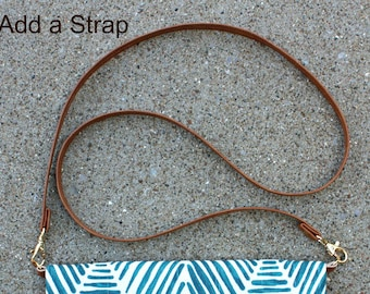 ADD A STRAP to any Foldover Clutch in my shop
