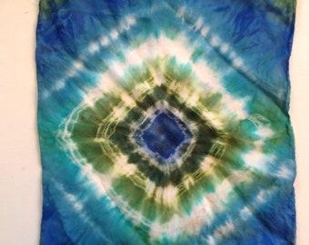 Hand dyed silk drawstring gift bag