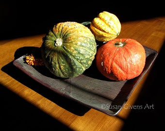 Harvest Gourds Original Photo, Thanksgiving Picture Art, Pumpkin Squash Art, Dining Room Art, Classic Autumn Gourds, BUY 1 CHOOSE 1 for FREE