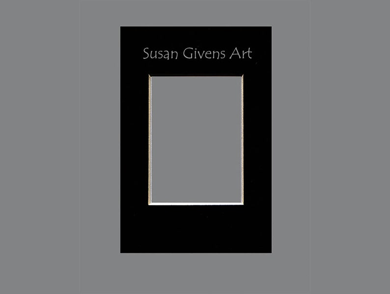 Black or White Mat Professionally Cut 4 Ply Deep Bevel  Upgrade for Your ACEO Card ONLY Buy When You Purchase An ACEO from Susan Givens Art