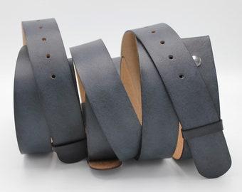 slate grey leather snap belt