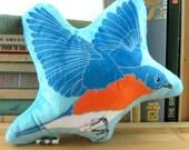Bluebird Mini-Pillow, Stuffie, Plush, Super Soft, Baby Gift, Birder Gift