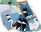 10 Waterbird Gift Tags | 2 Each of 6 Designs | Printed on Recycled Paper | bird mini card cute nature wildlife outdoors birder