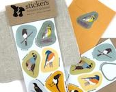 Grasslands Bird Stickers | Waterproof Vinyl | 2 sheets of 6 | songbird nature wildlife birder outdoors quail colorful decal