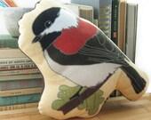 Chickadee Pillow / Stuffie / Plushie | Super Soft Birder Gift Wildlife Nature Songbird Audubon Birdwatcher