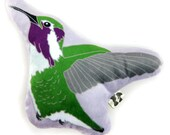 Costa's Hummingbird Plush / Mini-Pillow / Stuffie / Plushie | Super Soft Baby Gift Birder Gift Wildlife Nature