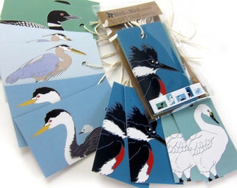 10 Waterbird Gift Tags   2 Each of 6 Designs   Printed on Recycled Paper   bird mini card cute nature wildlife outdoors birder
