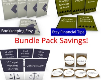 Handmade Business Success - Super Bundle - JJMFinance - Etsy Bookkeeping, Etsy Tax Guides, Etsy Legal Guides, Etsy Financial Startup Guides