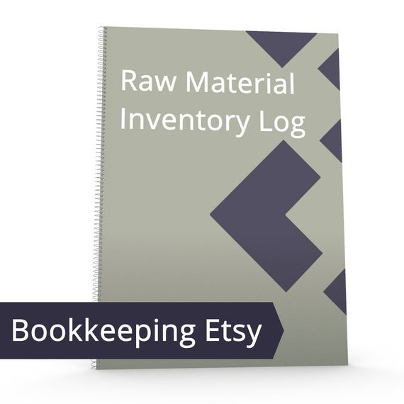 etsy raw material log inventory management inventory log etsy