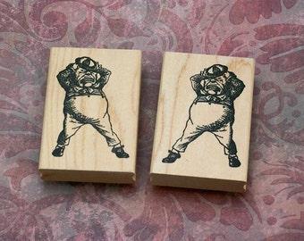 Tweedledee and Tweedledum wood mounted rubber stamps Alice in Wonderland