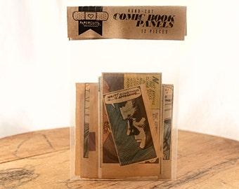 12 Comic Book Panels - Hand-Cut Assortment from Vintage Comic Books