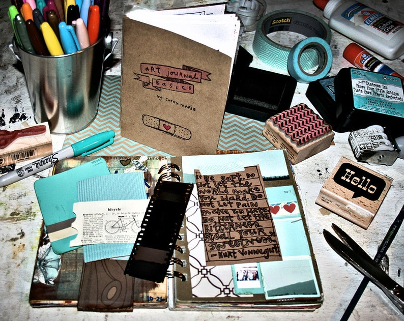 Art Journals Basics by Corey Marie  a hand-lettered & image 0