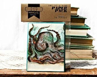 """One-of-a-Kind 3"""" x 4"""" PAPER pack - 24 pc. - CYAN"""