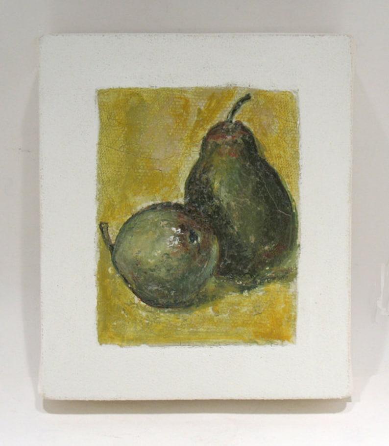 Pear Art  Still Life  Original Mixed Media Painting  image 0