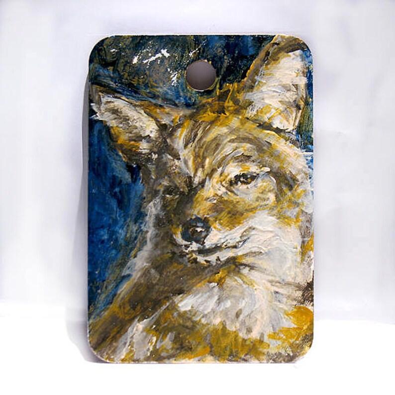 Coyote Art  Wolf Dog Art  Woodland Animal Art  Original image 0