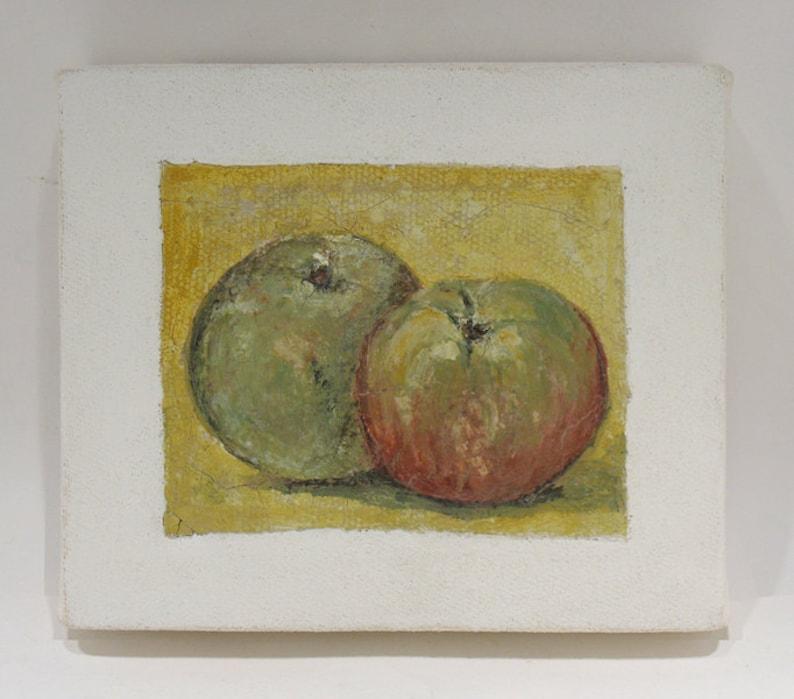 Apple Art  Still Life  Fruit Painting  Original mixed Media image 0