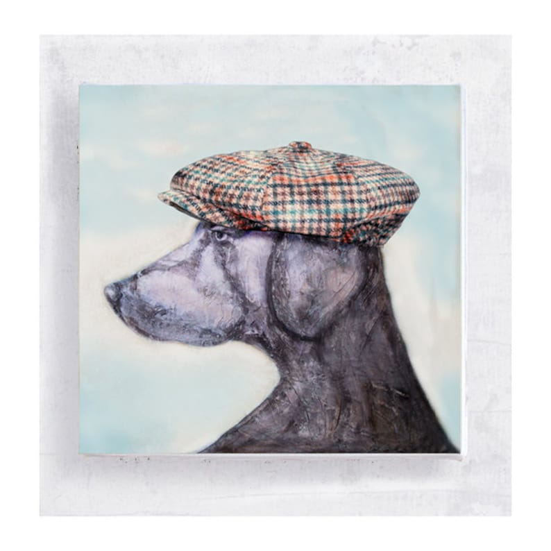 Golfer Jake   Weimaraner Print  Dog Art  Weimaraner with image 0