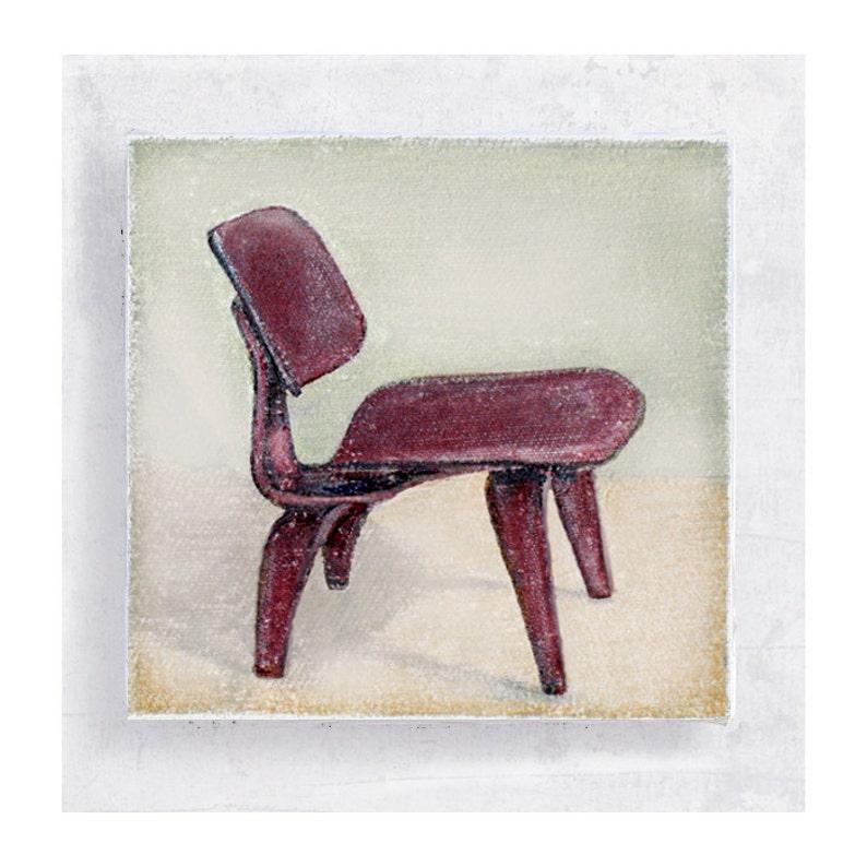 Chair Art  Chair Print  Mid Century Modern  Eames Chair   image 0