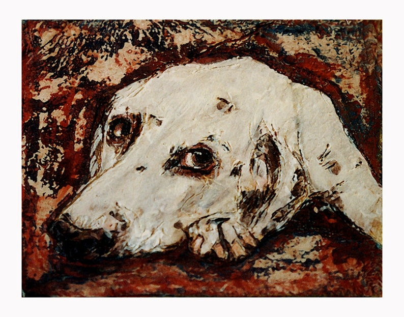 Dog Art  Dalmatian Dog  Animal Art  Canvas Print  Cedric  image 0