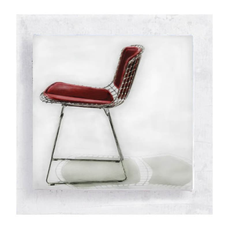 Chair Art  Realism  The Iconic Wire Side Chair by Harry image 0
