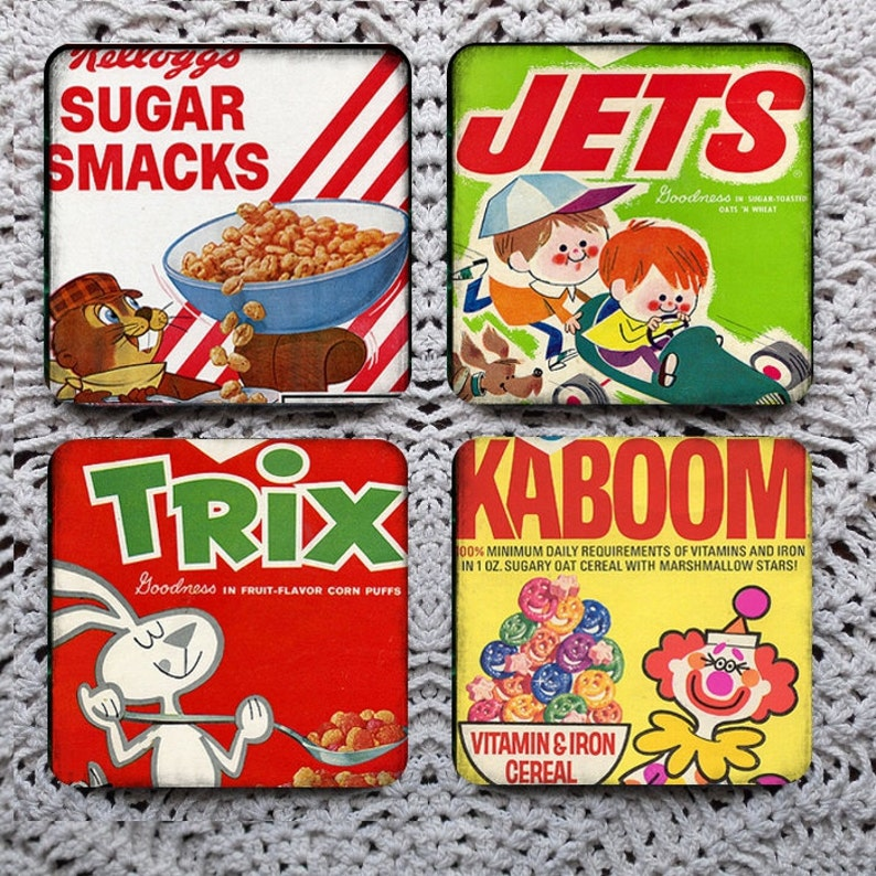 Part Of A Nutritious Breakfast Retro Cereal Boxes Mousepad Etsy