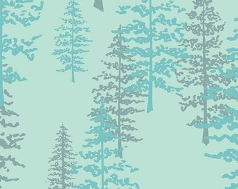 945e94dff50 Teal Woodland Fabric | Pine Trees | Forest Theme Fabric BTY | Mystical  Woods Lunar | Nightfall | Maureen Cracknell | NTF-67902 | Art Gallery