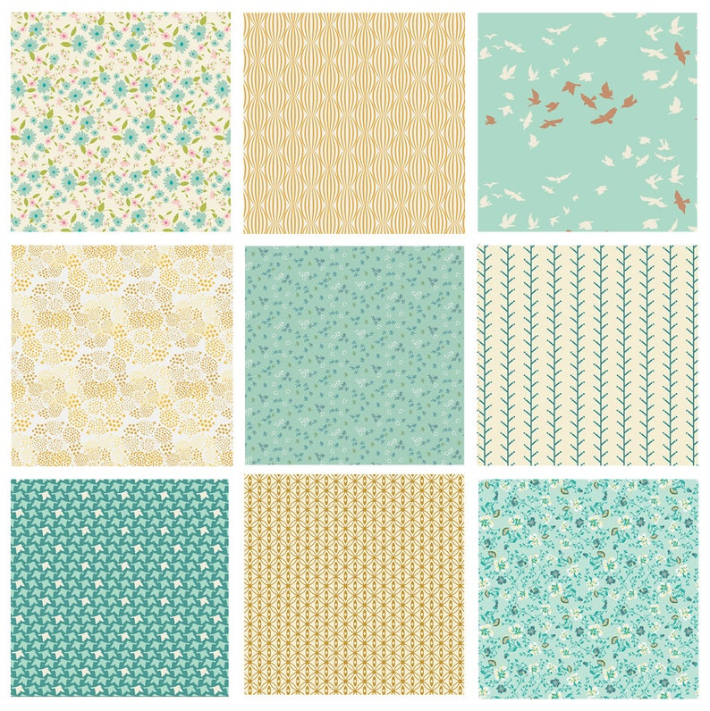 Pastel Floral Fabrics for Girls Quilt Fabrics with Butterflies and Birds for Quilting Joie de Vivre by Bari J Half yards Pastel Fat Quarters | Winged by Bonnie Christine Art Gallery Fabric