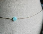 Peruvian opal choker necklace,string choker,dot choker,blue choker,opal choker, dainty choker,simple choker,gemstone choker,boho choker