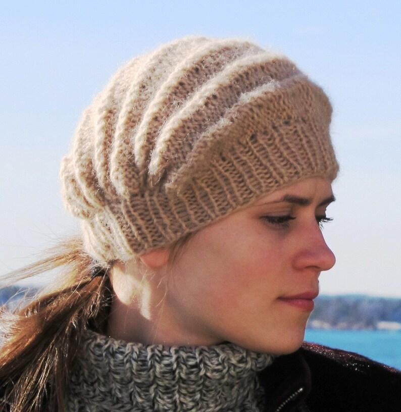 Lily a hat knitted sideways. PDF knitting pattern image 0
