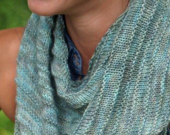 Good to the Last Drop, 3 Easy Side to Side Shawls  PDF knitting pattern