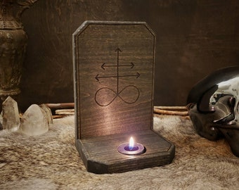 Candle Holder - Leviathan Cross