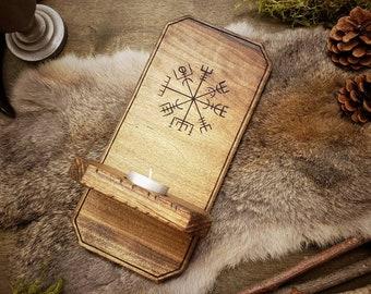 Rustic Wood Sconce - Vegvisir
