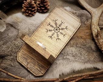 Rustic Wood Sconce - Aegishjalmur