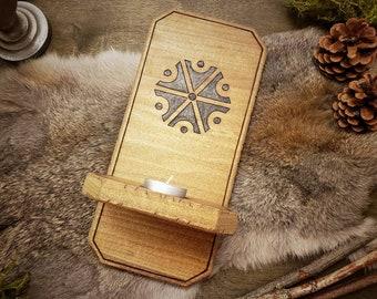 Rustic Wood Sconce - Perun