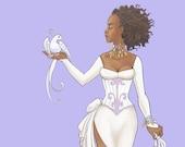 Azalea: Original Fantasy Fashion Print