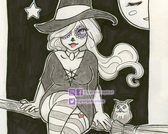 Witch: Fantasy Witchy art print