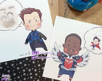 Chibi Prints: Sam & Bucky - FATWS cute art