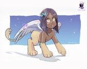 Nethi: Baby Sphinx Print