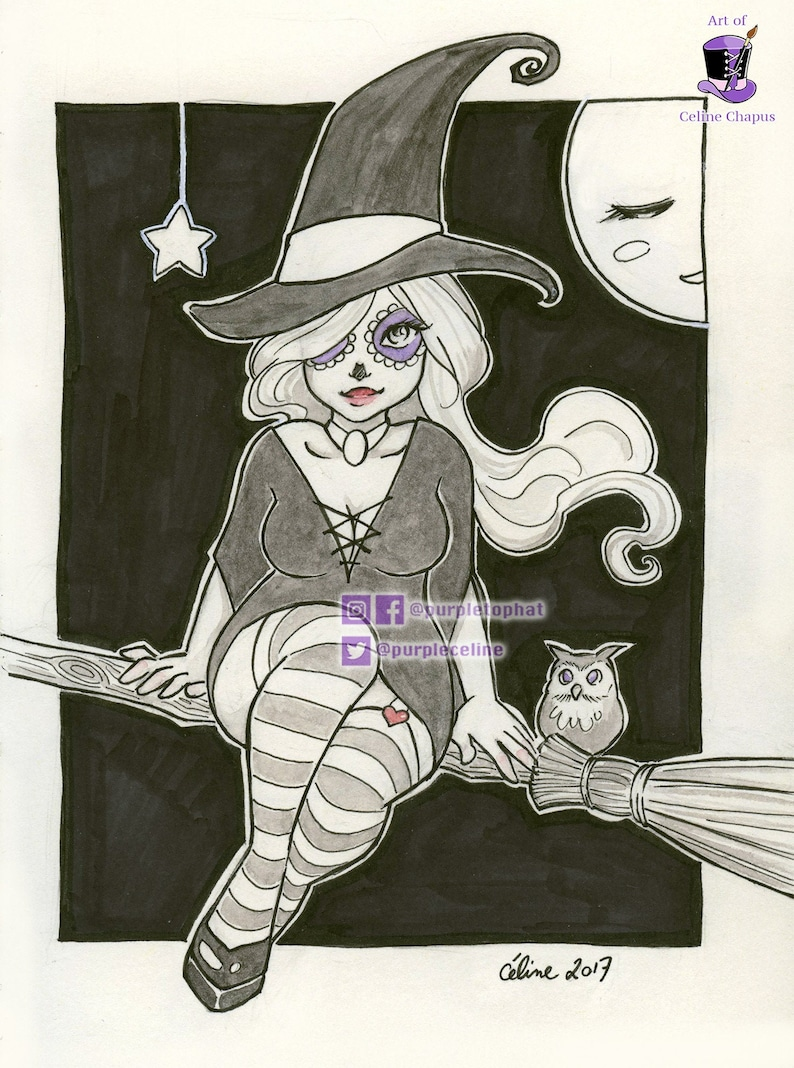 Witch: Fantasy Witchy art print image 0