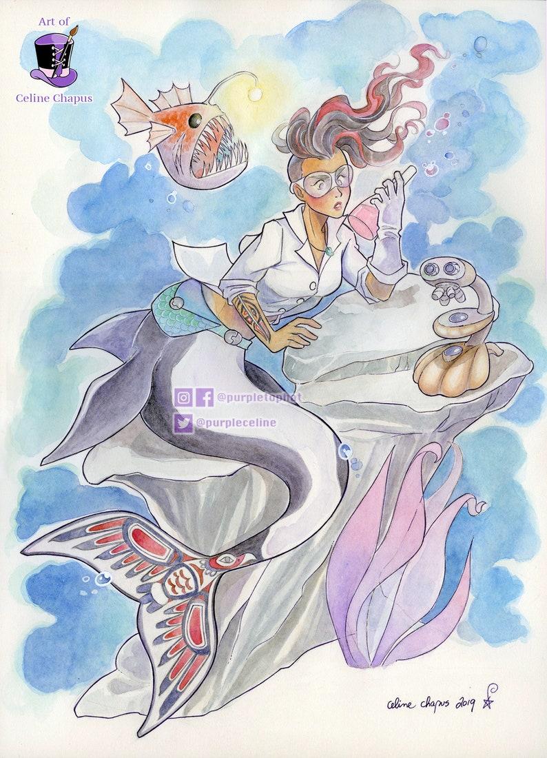 Science Genius Mermaid: A Fantasy Art Print image 0