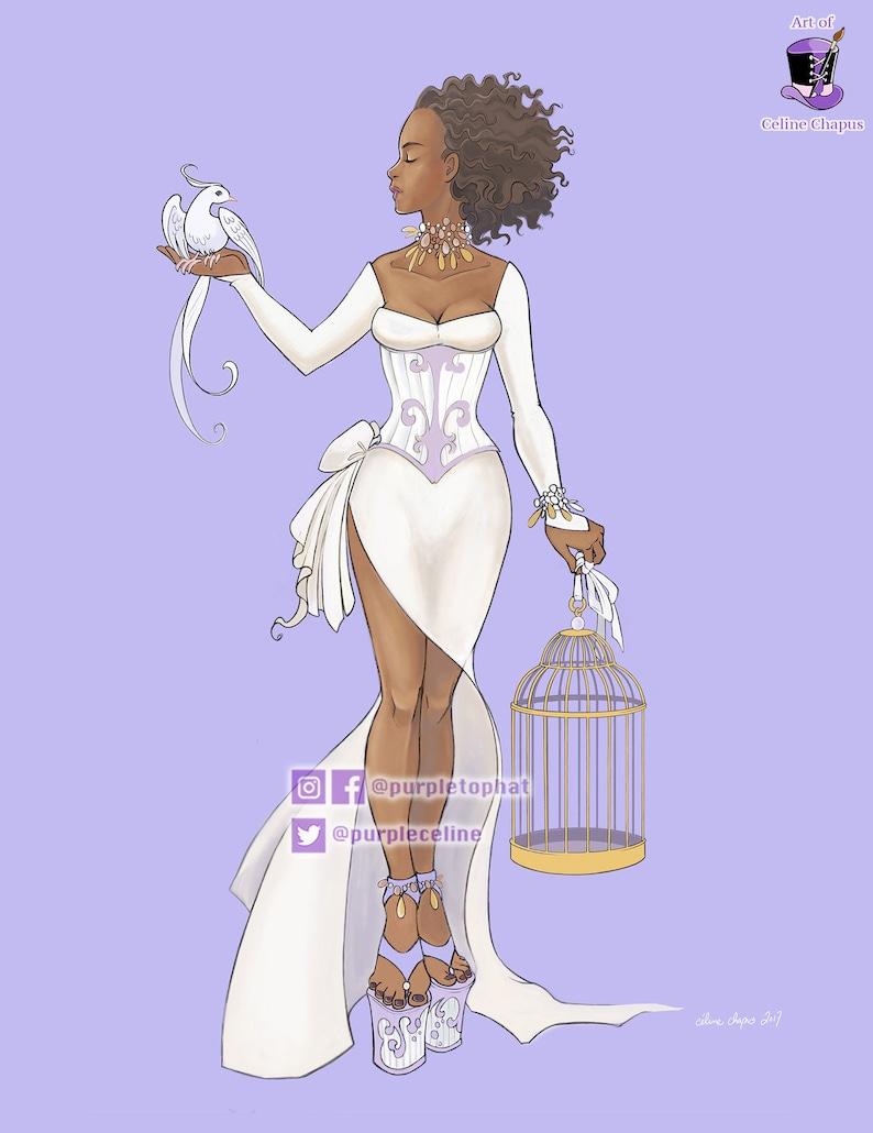 Azalea: Original Fantasy Fashion Print image 0