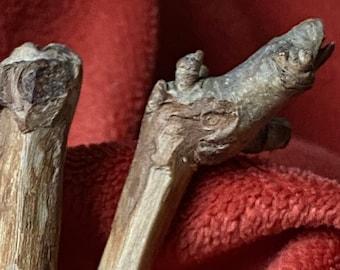 """Pair of 8"""" Long Sycamore Hair Pin Sticks"""