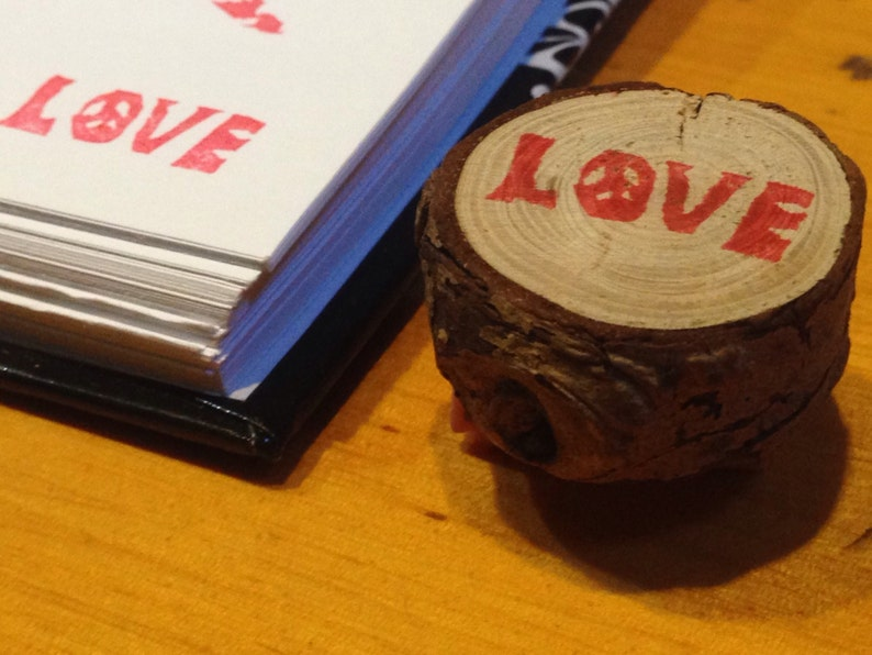 Little love stamp on branch image 0