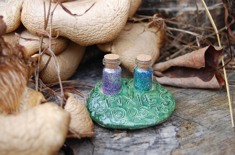 Enchanted Pixie Dust Vials with Ceramic Holder image 0