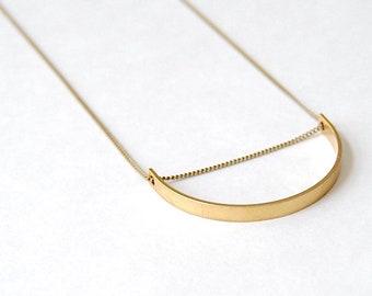 rosegold gold silber Halskette Schlangenkette mit minimal design Rohr Anhänger