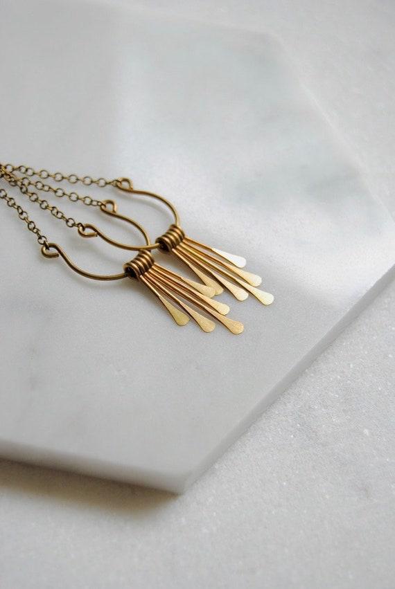 2ddabd257 Long Gold Tassel Earrings Vintage Inspired Wedding Jewelry | Etsy